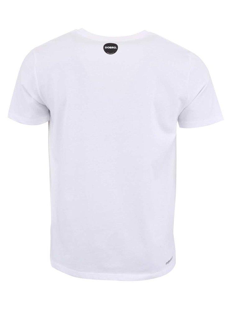 """""""Dobré"""" biele pánske tričko s bludiskom Cesta domů"""