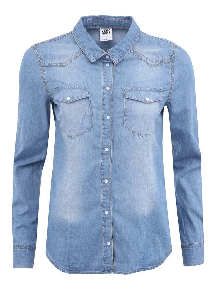 Světle modrá denimová košile VERO MODA Vera
