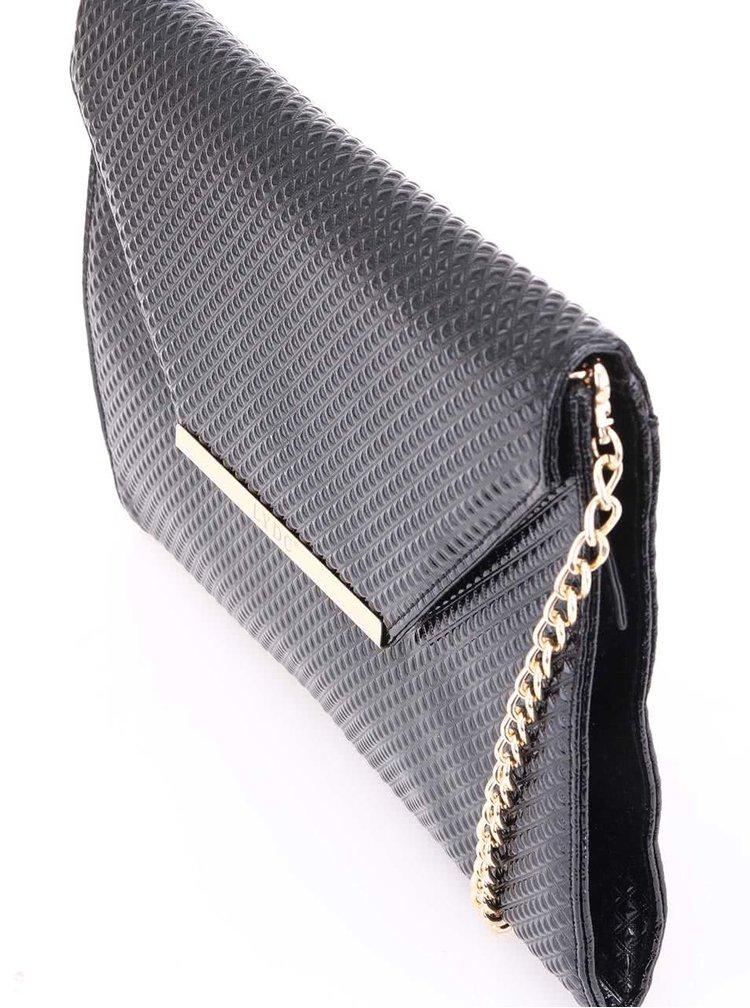 Čierna listová kabelka s plastickými pyramídami LYDC