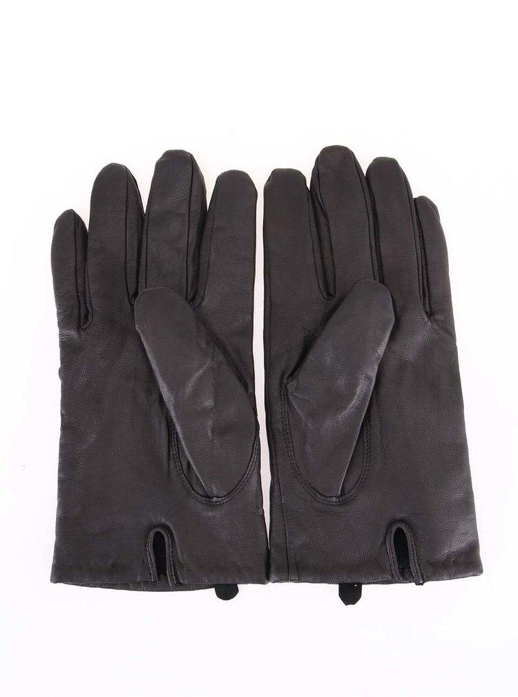 Kožené rukavice s vlněnou podšívkou Selected