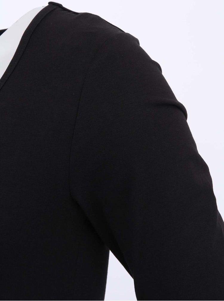 Černé tričko s dlouhým rukávem ONLY Live Love
