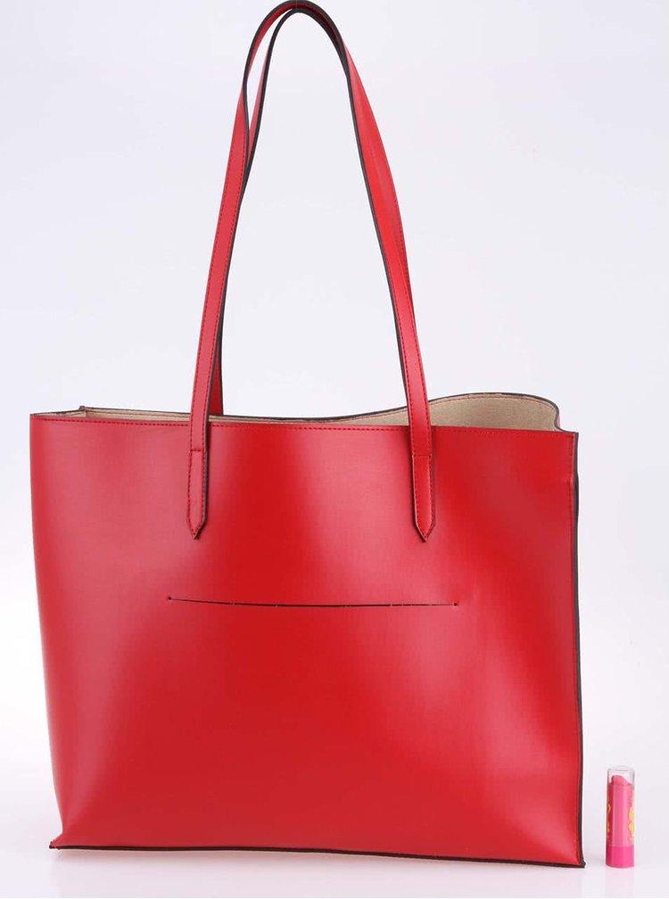 Červená minimalistická kabelka OJJU