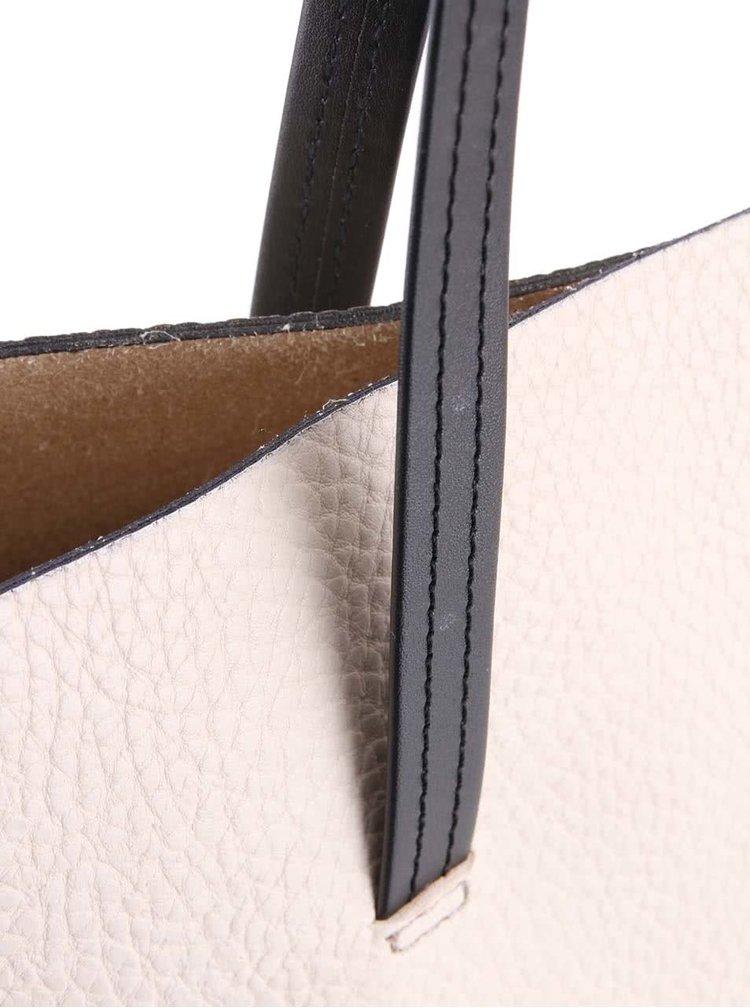 Černo-béžová větší kabelka OJJU