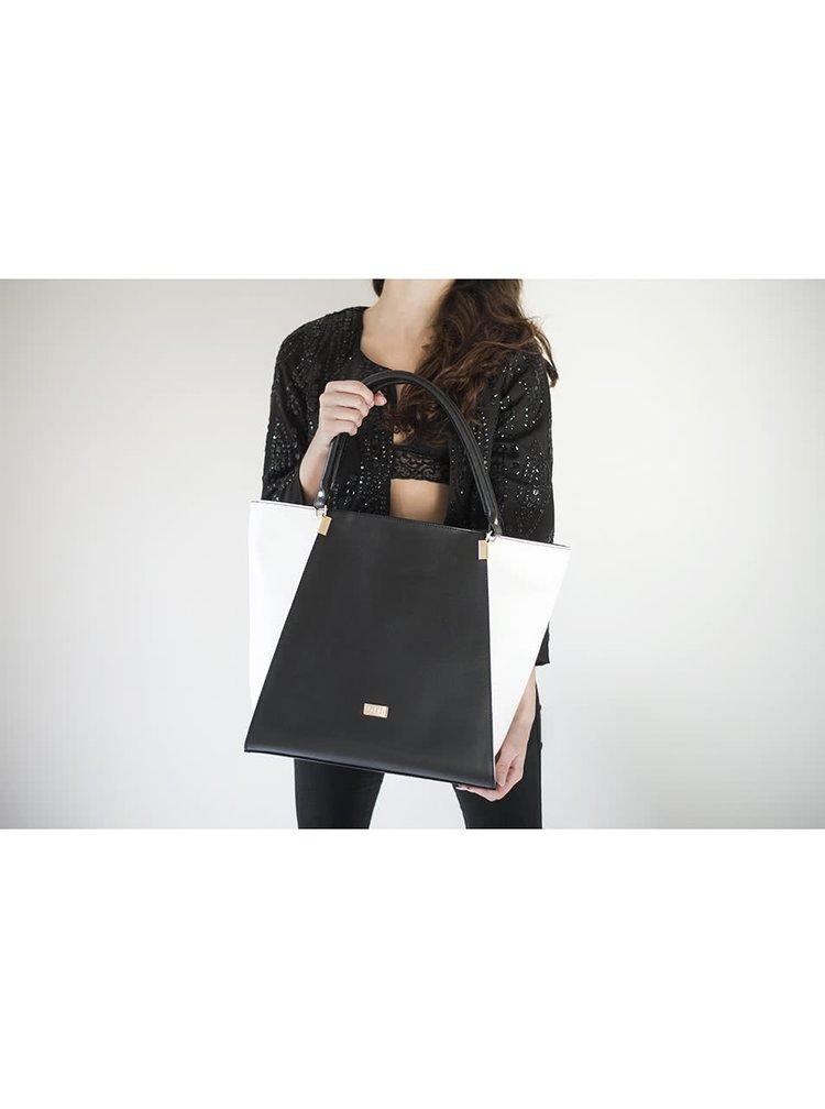 Čierno-biela kabelka OJJU
