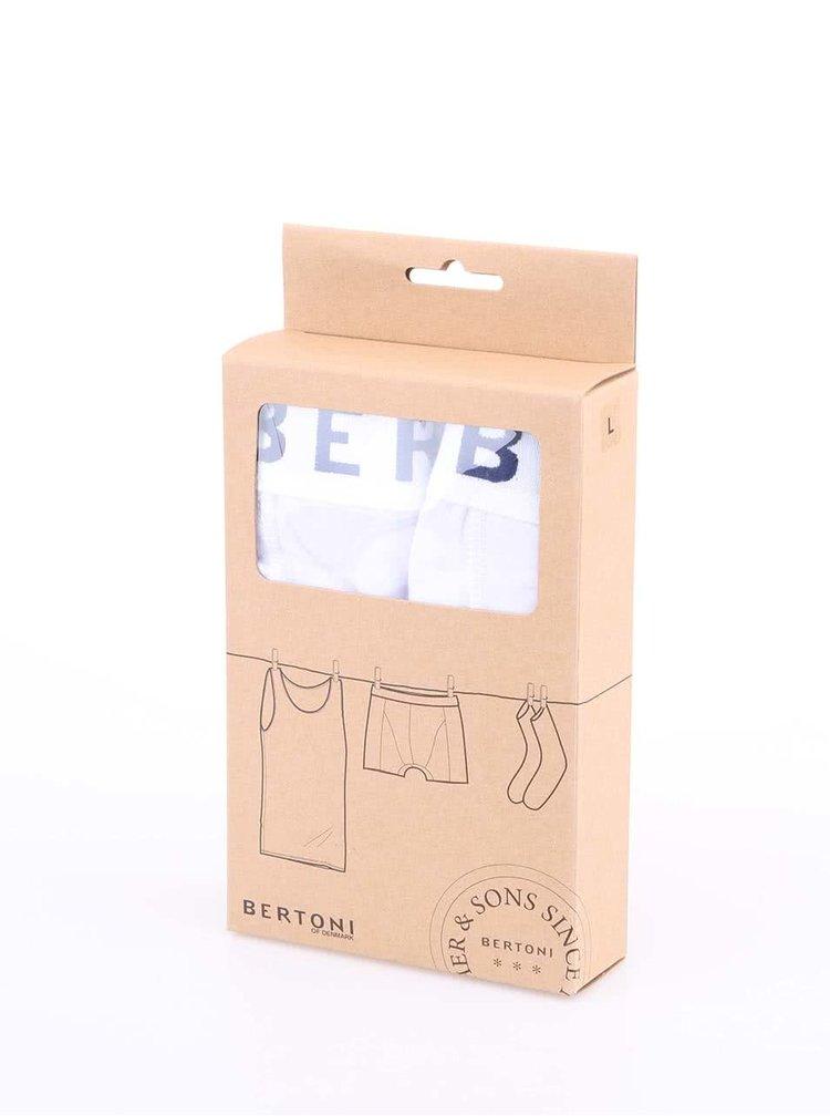 Bertoni Set of Two White Boxer Shorts