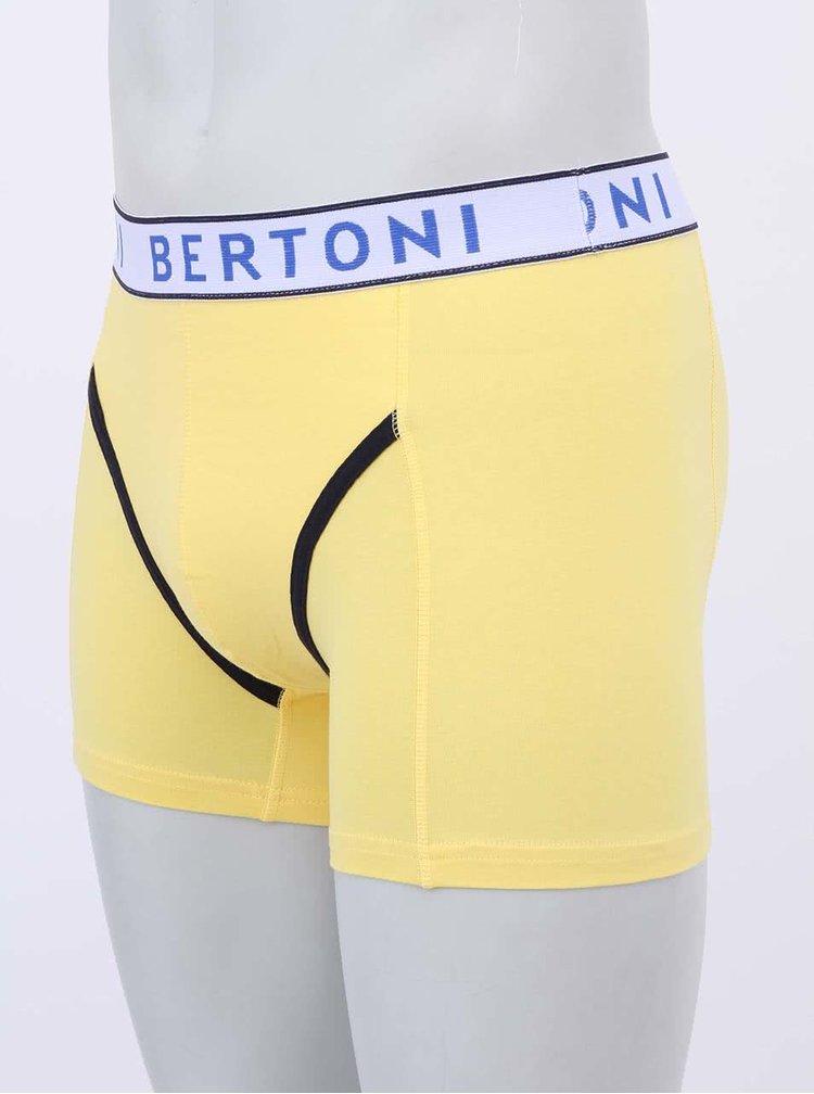 Súprava zelených a žltých boxeriek Bertoni