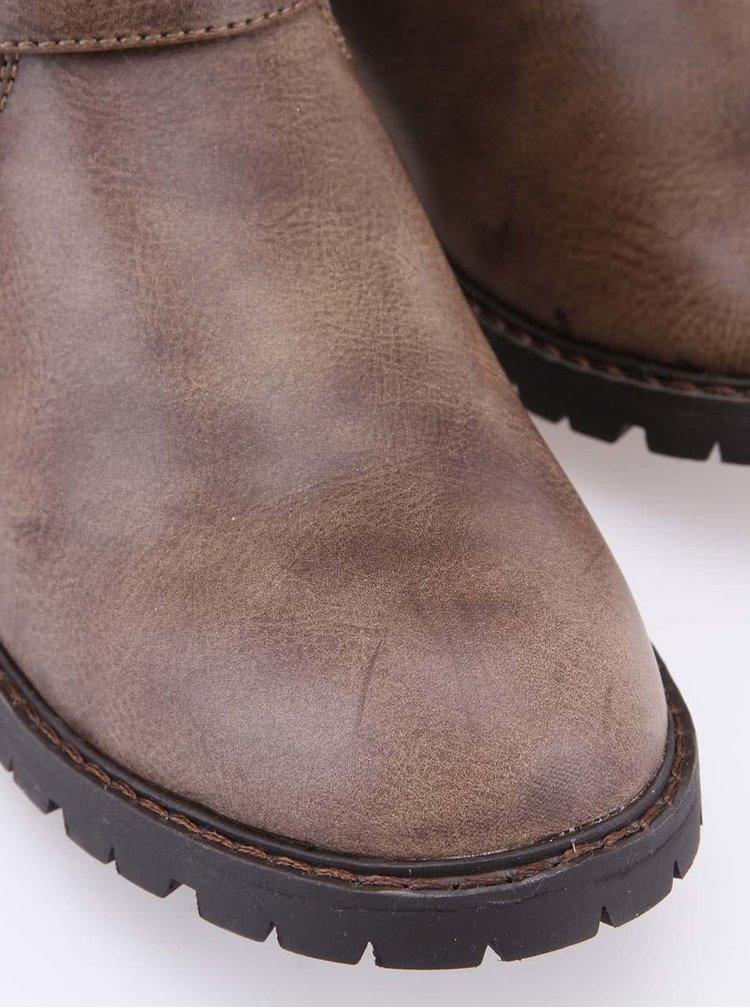 Hnedé členkové topánky s maskáčovým vzorom Xti