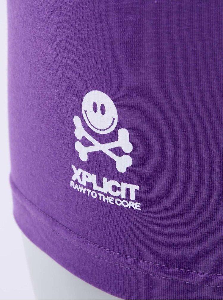 Modro-fialové pánské boxerky s nápisem Xplicit Swell