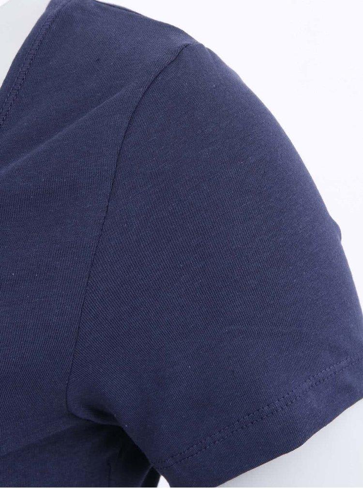 Tricou lung Maxi My, de la VERO MODA, albastru închis