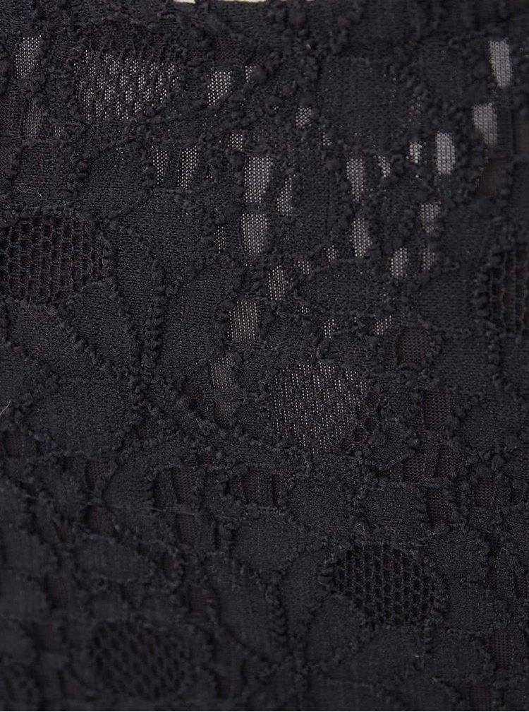 Černé krajkované těhotenské šaty Mama.licious Cille