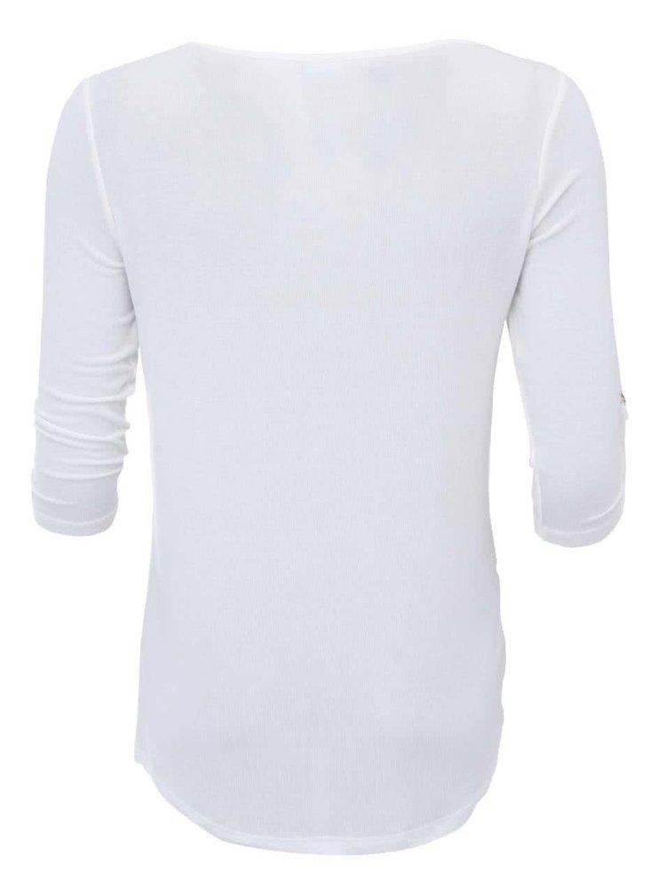 Biele tričko s 3/4 rukávom VERO MODA Burcu