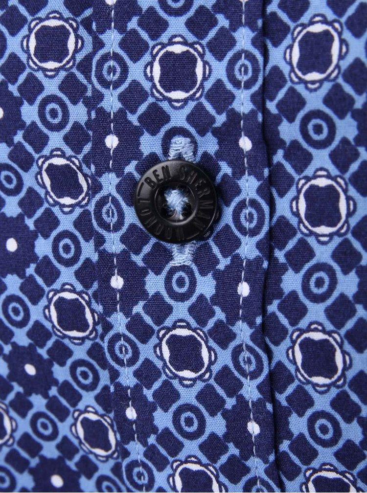 Modrá vzorovaná košile Ben Sherman