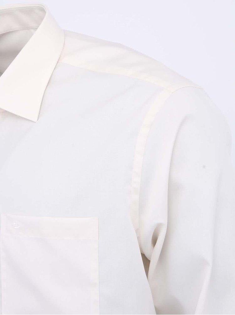 Krémová košeľa Seidensticker Kent Classic Patch 98 Regular Fit