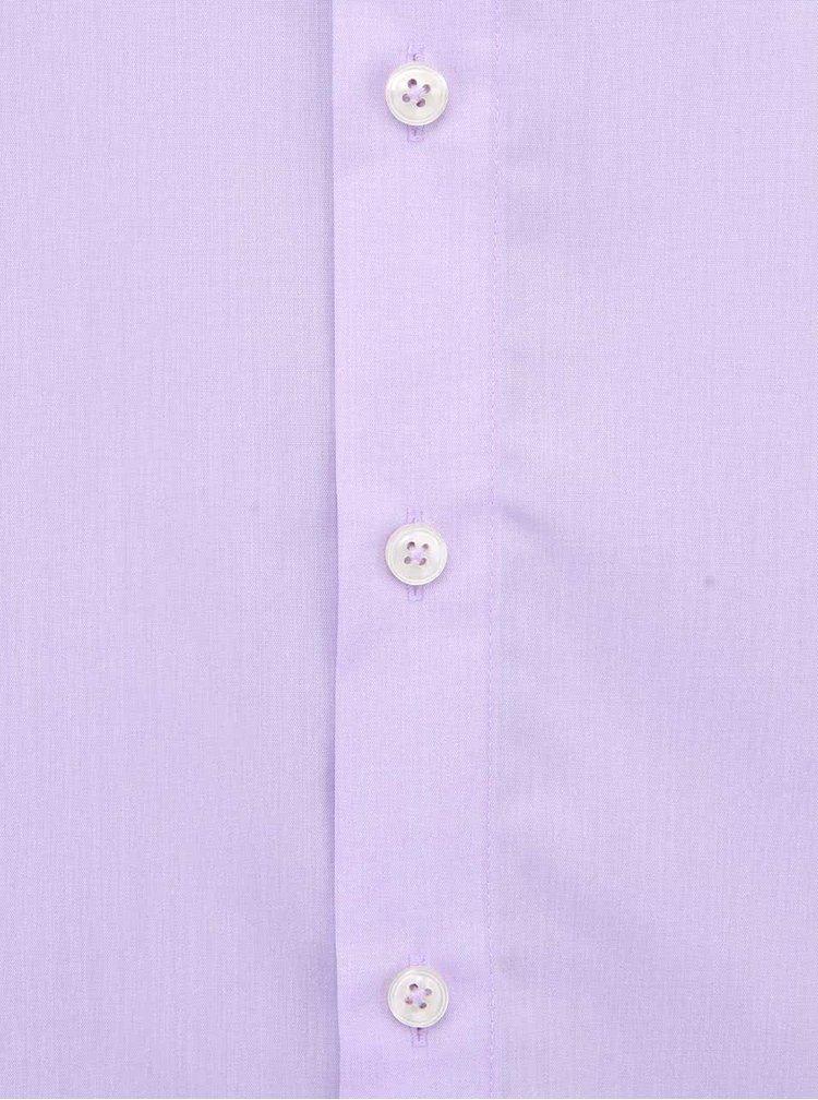 Světle fialová košile Seidensticker Kent Classic Patch 98 Regular Fit