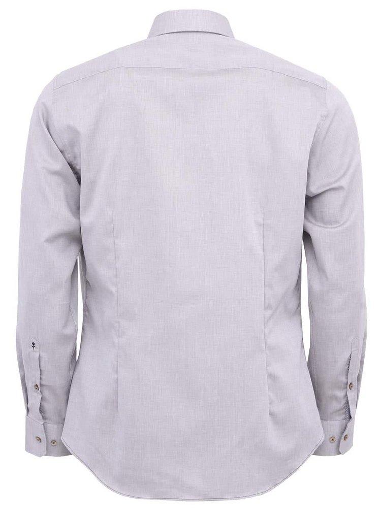 Sivá košeľa Seidensticker Paul Panel Patch Slim Fit