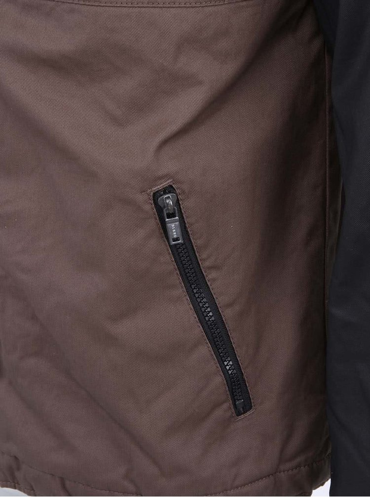 Jacheta barbateasca in negru si maro de la Blend