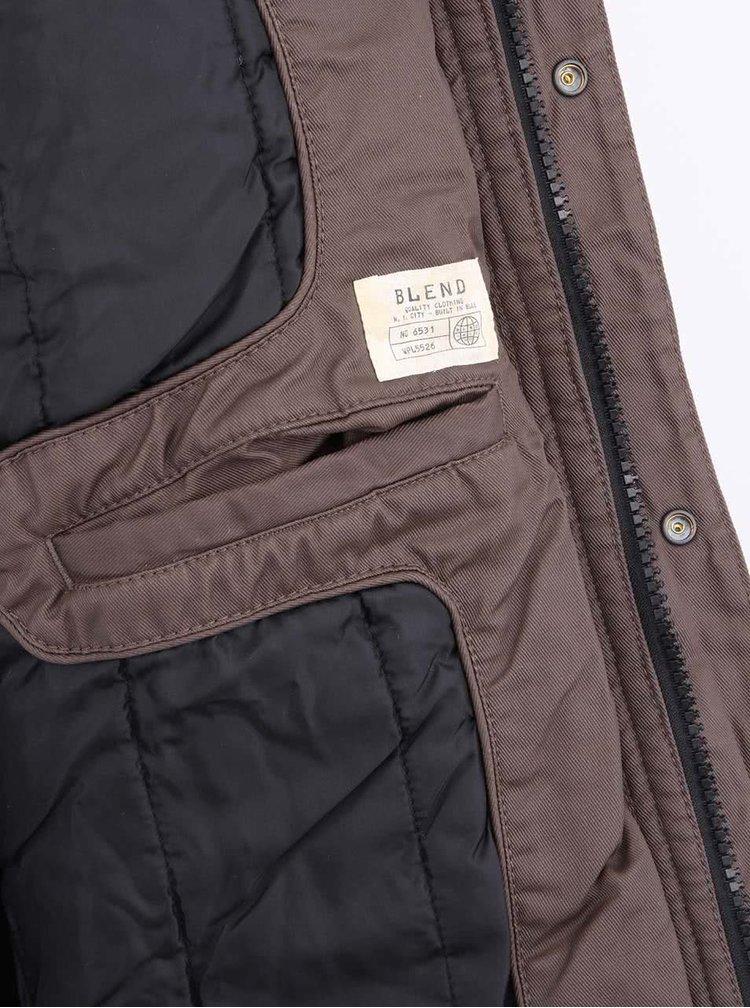 Čierno-hnedá pánska bunda Blend