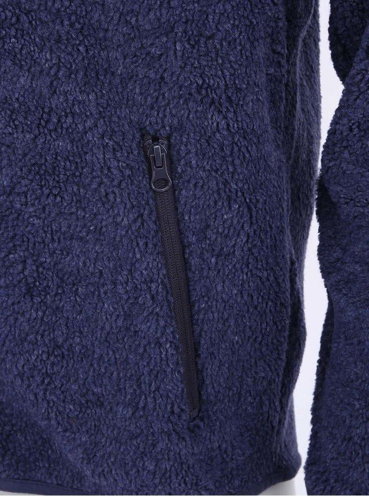 Hanorac bleumarin fleece de la Blend