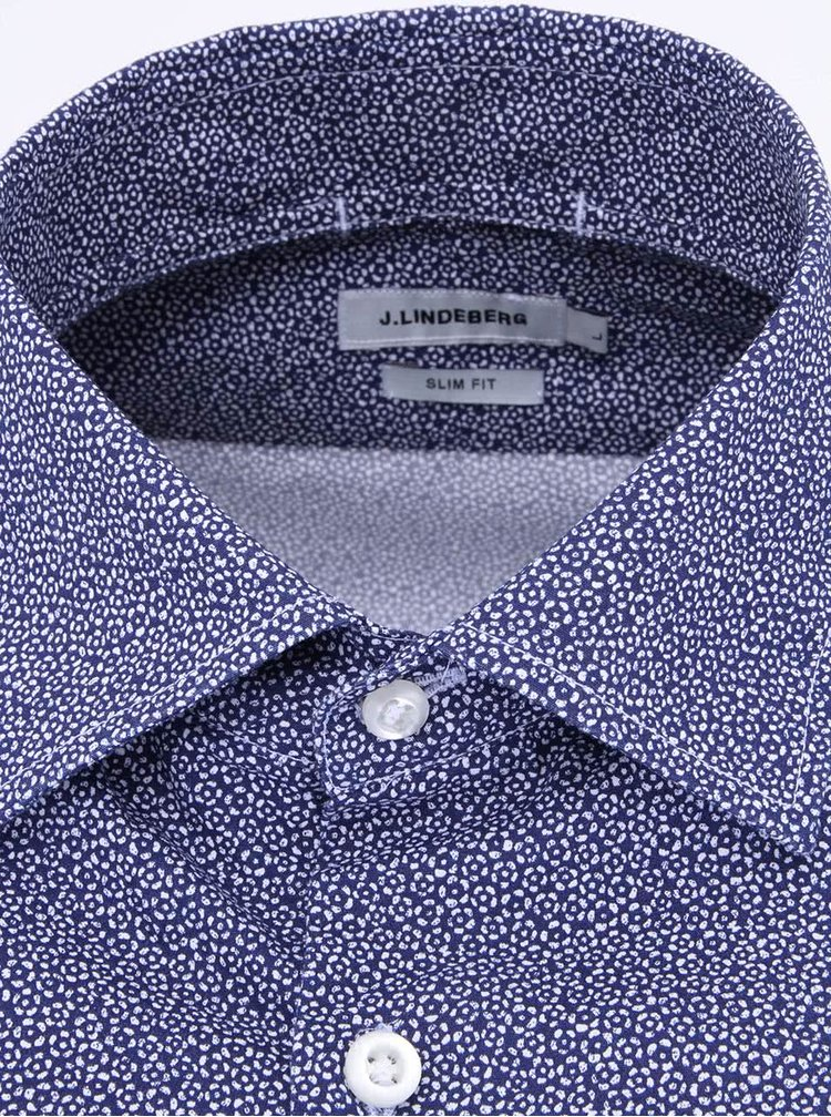 J. Camasa barbateasca usoara cu imprimeu floral albastru navy Lindeberg Dani Season