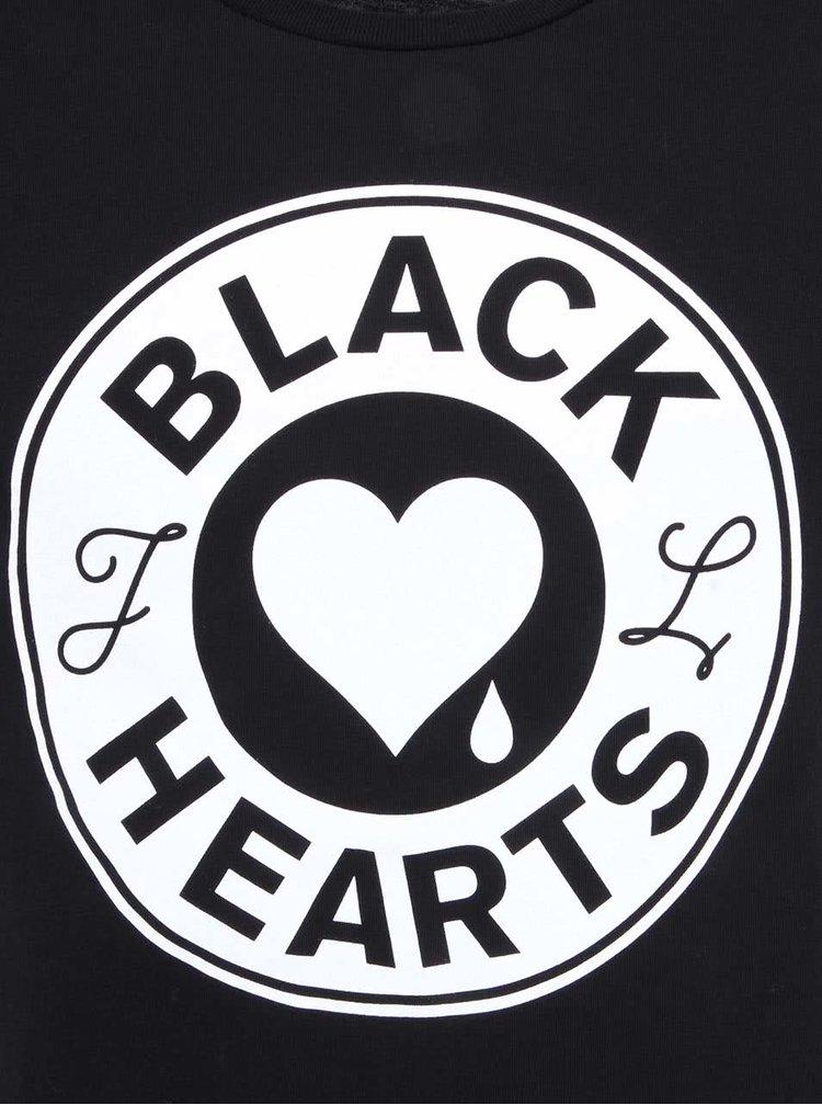 Černé triko s potiskem J.Lindeberg Seth
