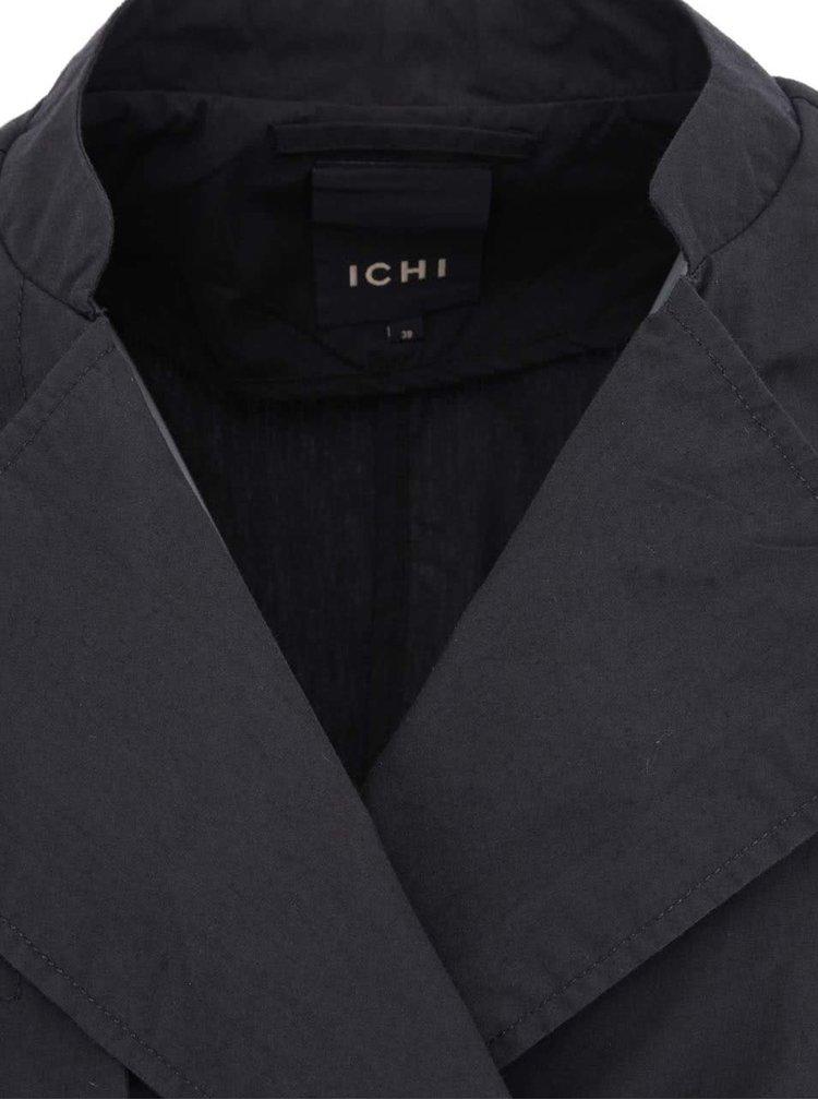 Černý trenčkot ICHI Tacca