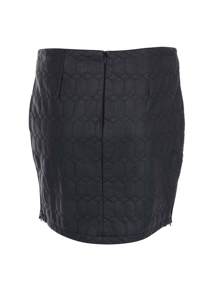 Čierna prešívaná sukňa ICHI Tevoz