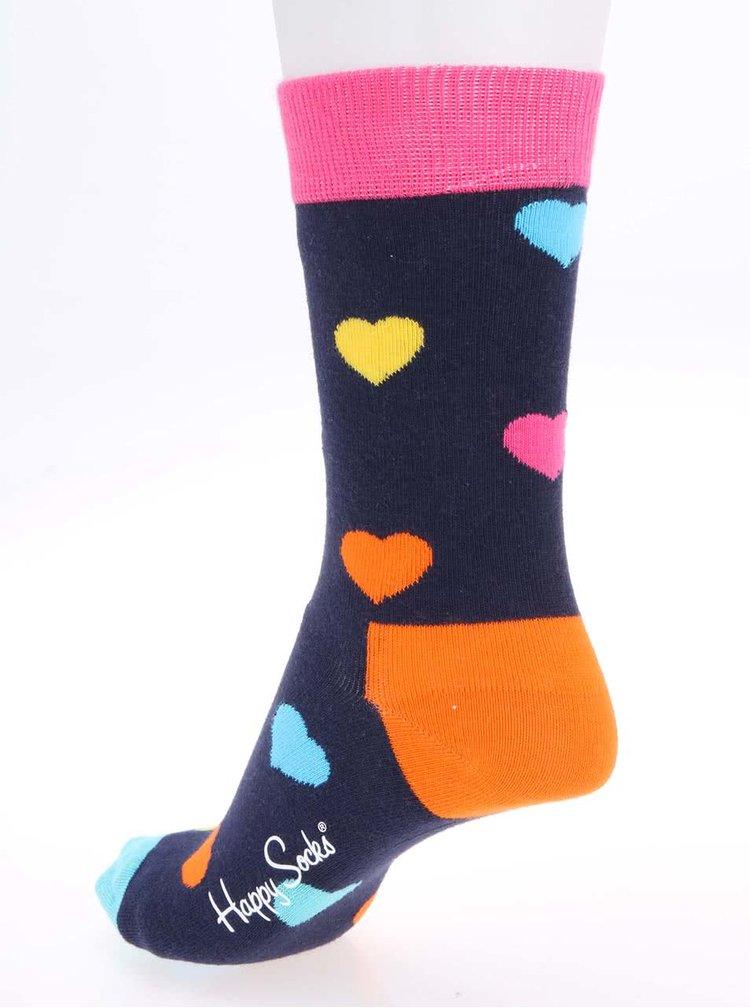 Sosete multicolore unisex cu imprimeu Happy Socks Heart