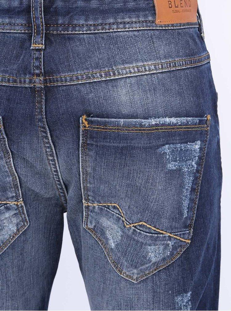Jeansi barbatesti albastri uzati de la Blend
