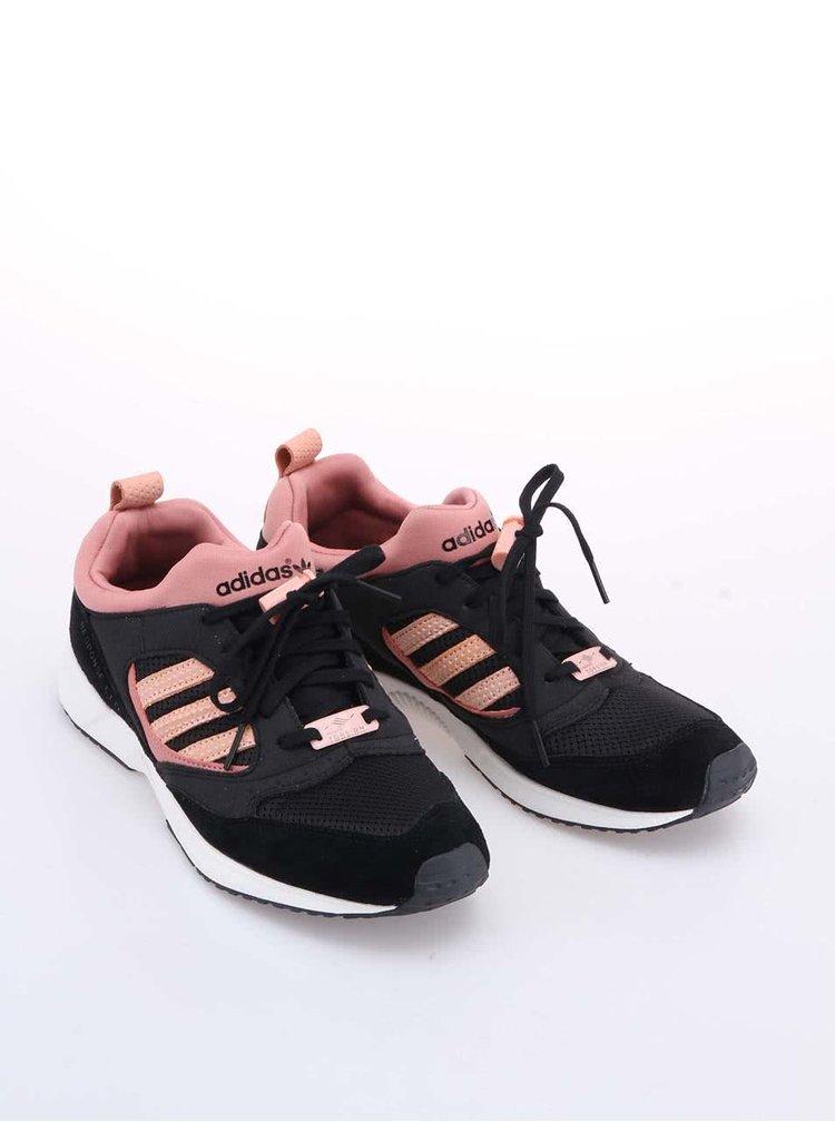 Pantofi sport Adidas Originals Torsion de damă roz cu negru