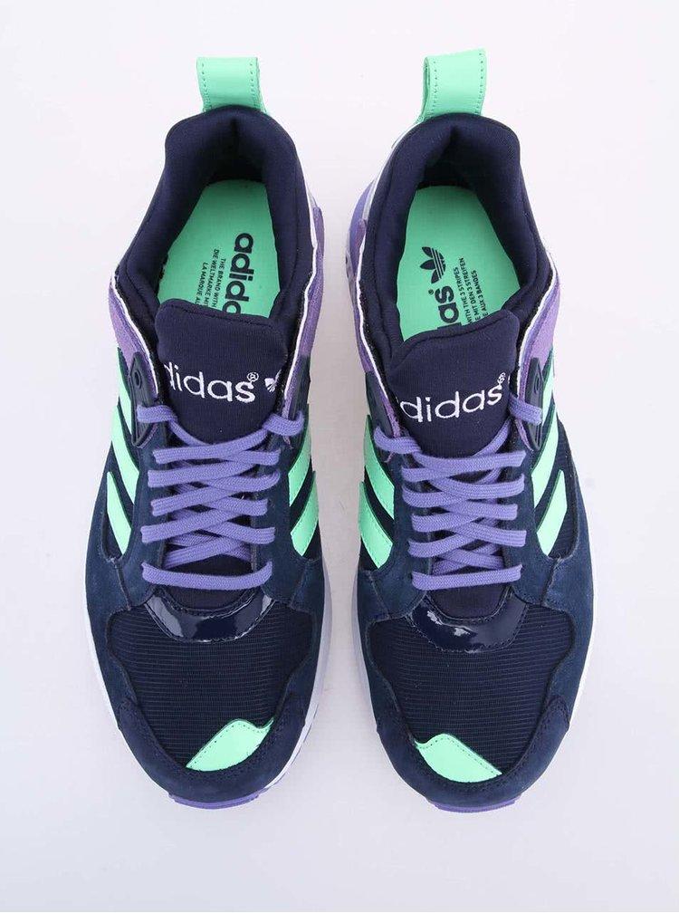 Fialovo-modré dámské sportovní boty adidas Originals ZX 5000