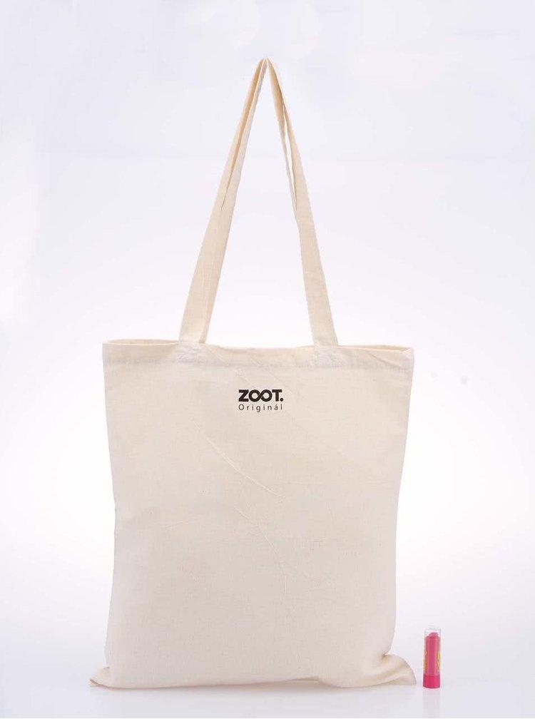 Béžová plátěná unisex taška ZOOT Originál Lebka