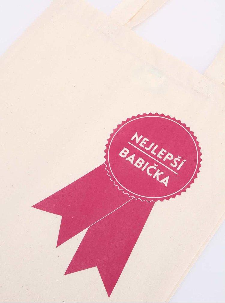 Krémová plátěná taška ZOOT Originál Nejlepší babička