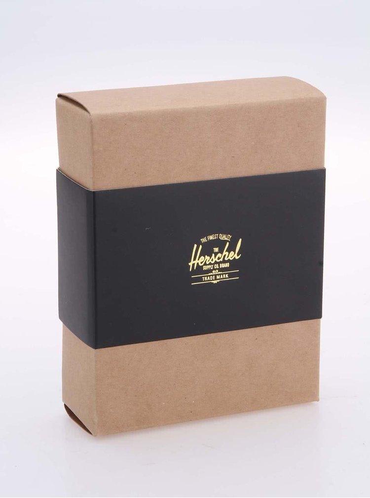 Béžová kožená pánská peněženka Herschel Miles