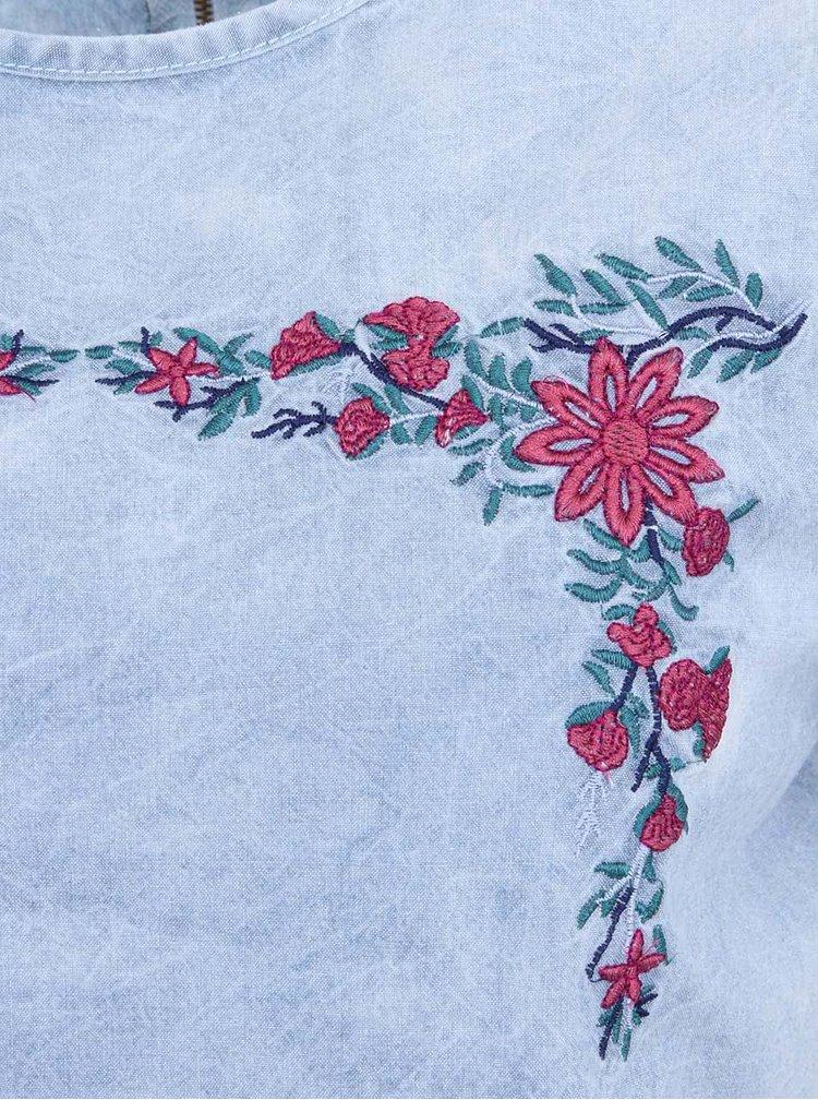 Bluza din denim de dama Bellfield Mary - albastru deschis