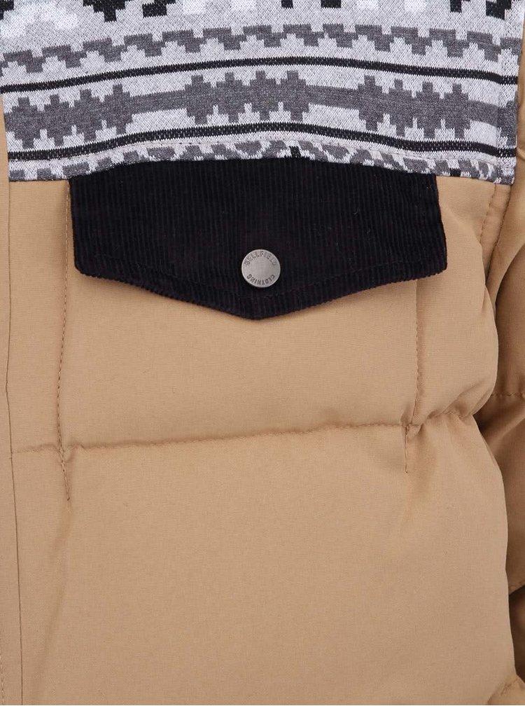 Béžová pánska bunda so vzorom Bellfield Brom