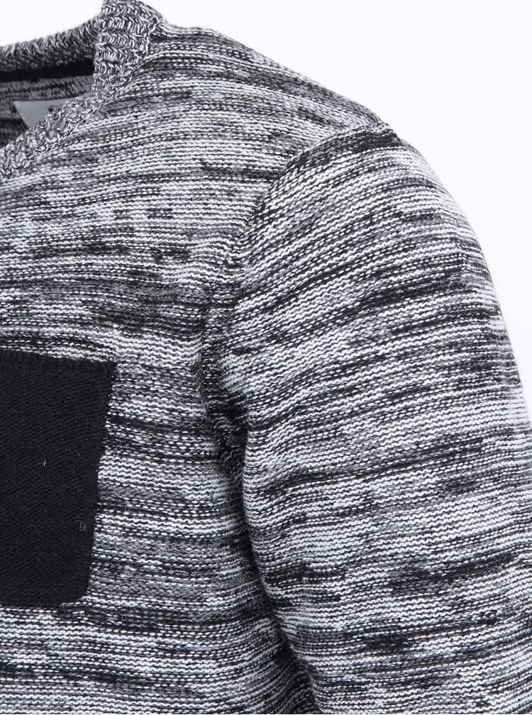 Černo-bílý pánský svetr Bellfield Kied