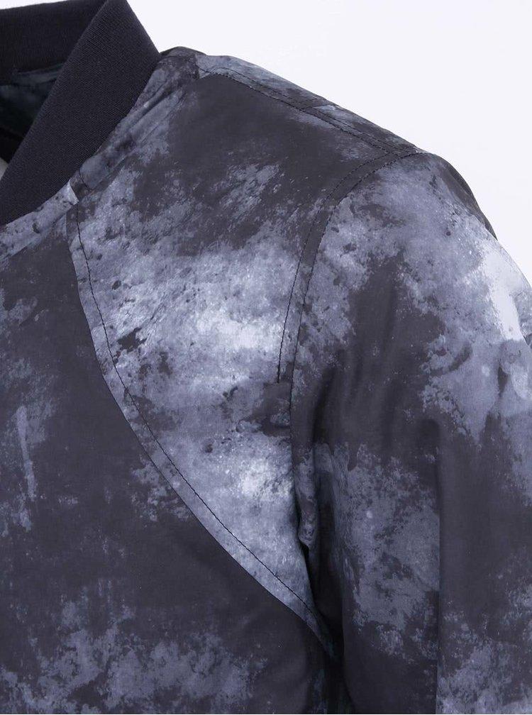 Tmavě šedá vzorovaná bunda Jack & Jones Harvey