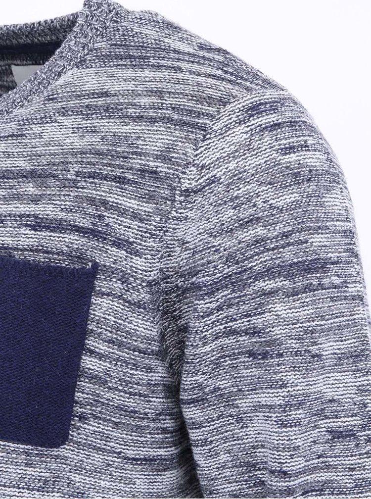 Modro-bílý pánský svetr Bellfield Kied