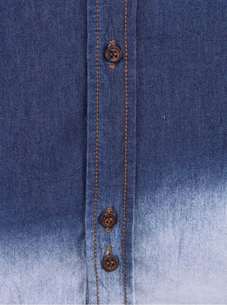 Bellfield Yukon Camasa Denim - Alb cu Albastru