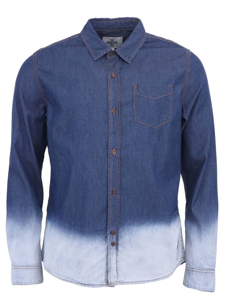 Bílo-modrá denim košile Bellfield Yukon