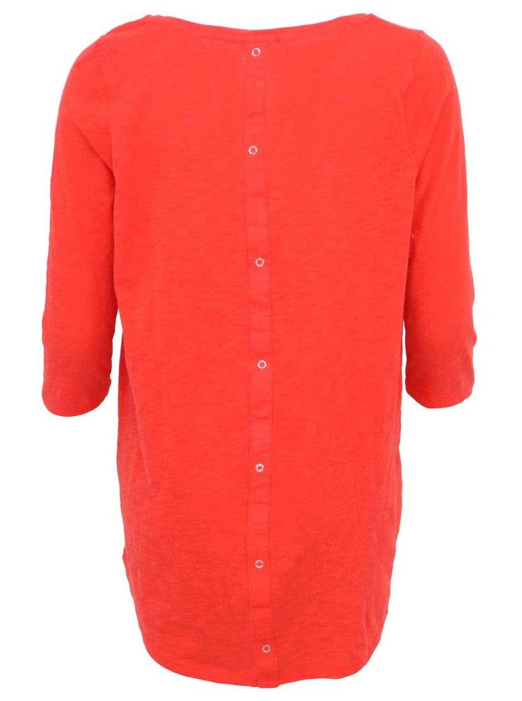 Červené tričko s 3/4 rukávmi ONLY Casa