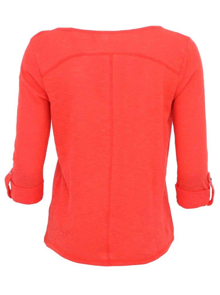 Červené tričko s 3/4 rukávom ONLY Jess