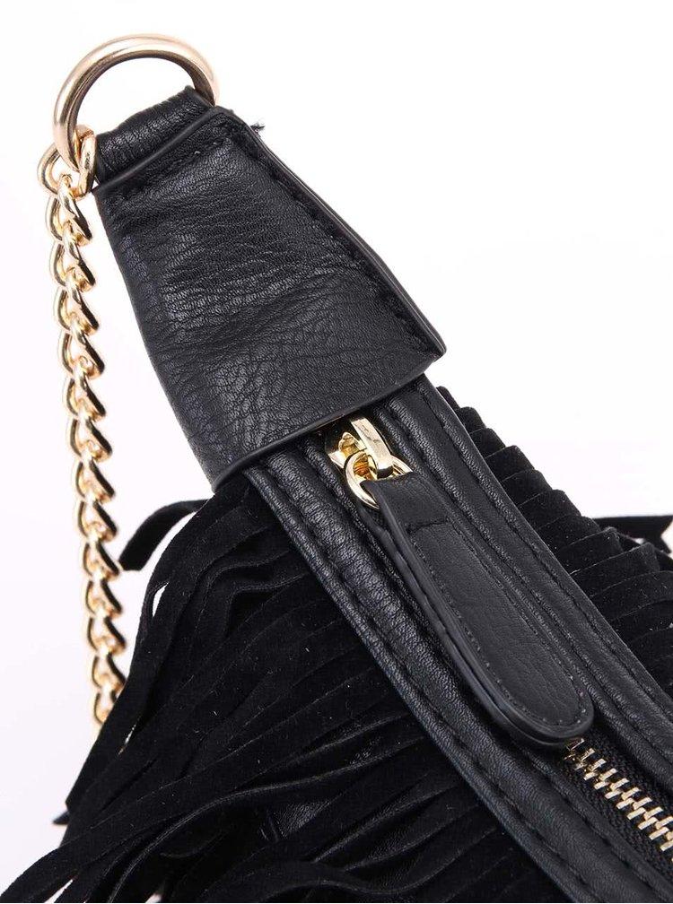 Černá menší kabelka s třásněmi ONLY