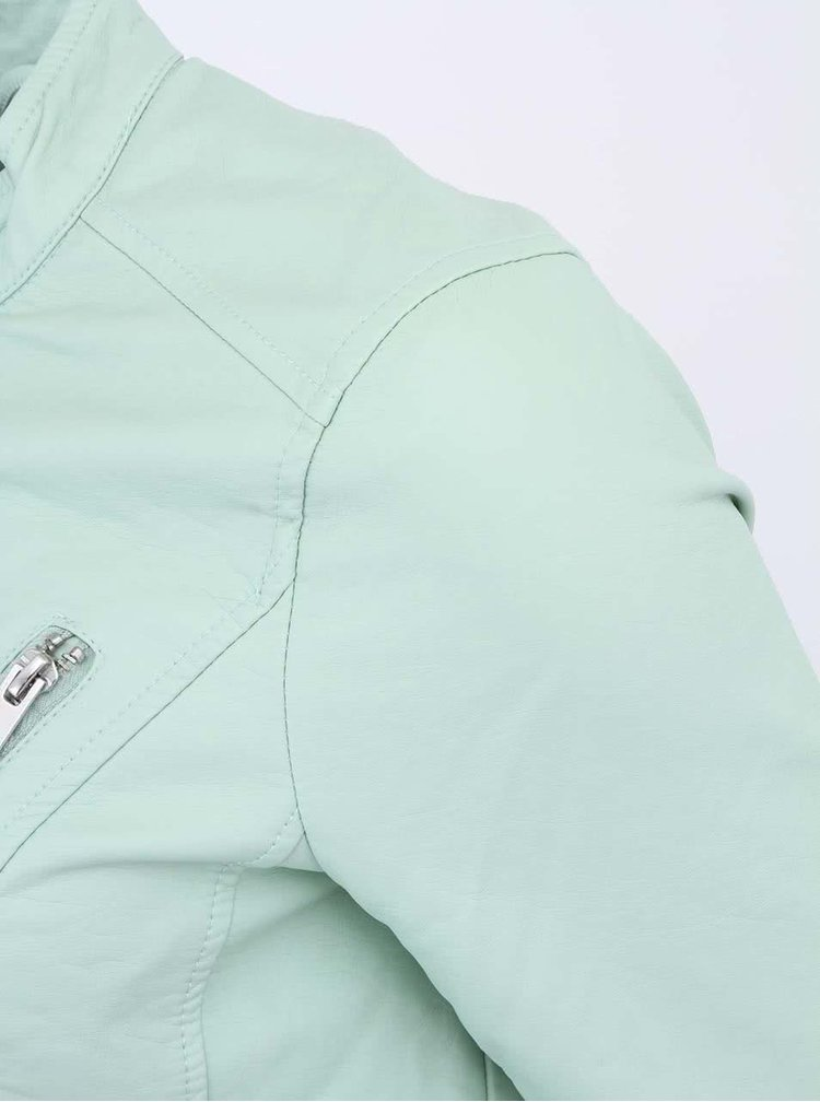 Jachetă verde pal din piele artificială VERO MODA Irina