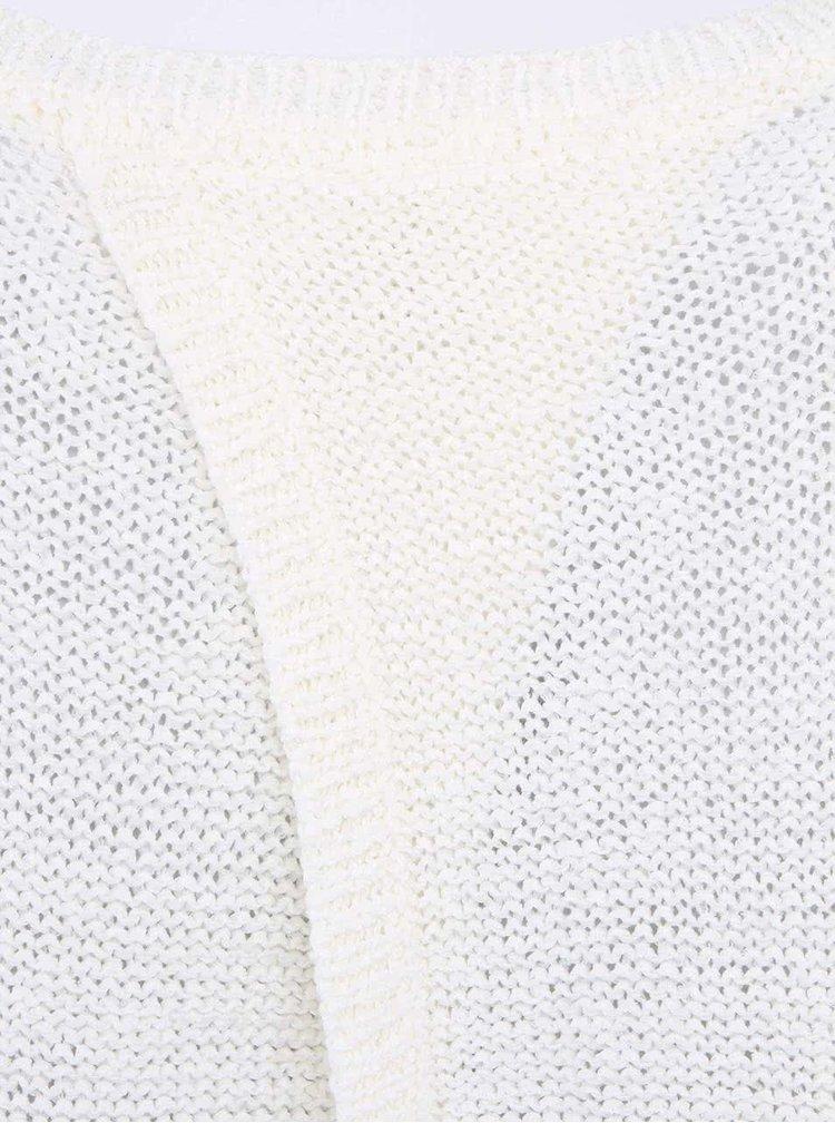 Pulover VERO MODA Risa alb cu spate decupat