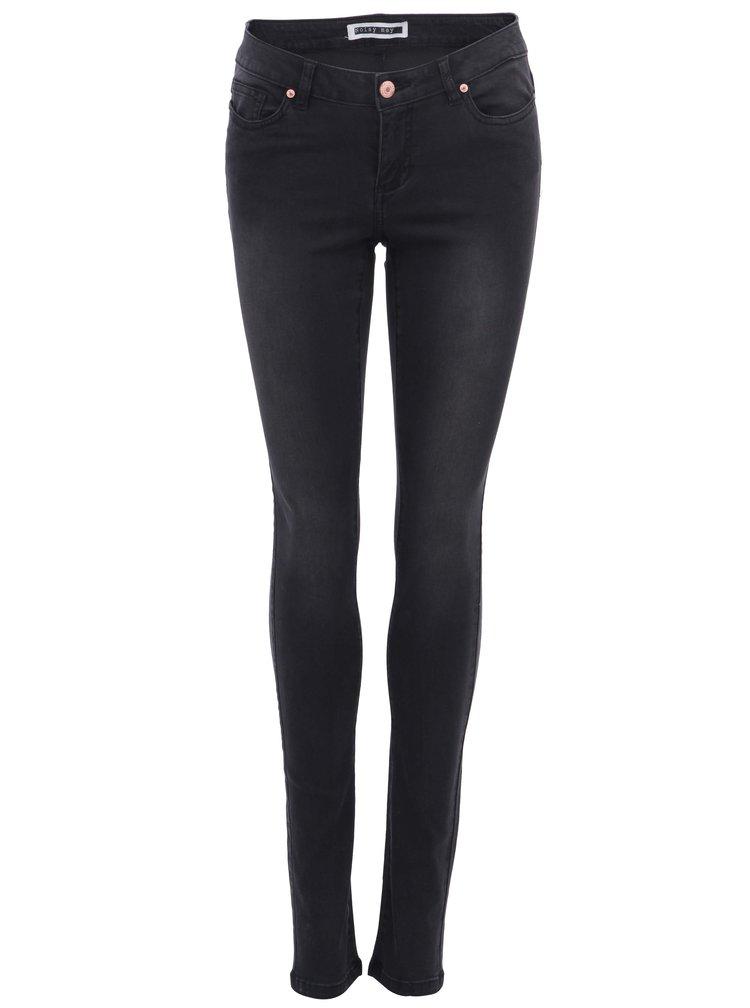 Černé slim džíny s vyšším pasem Noisy May Eve