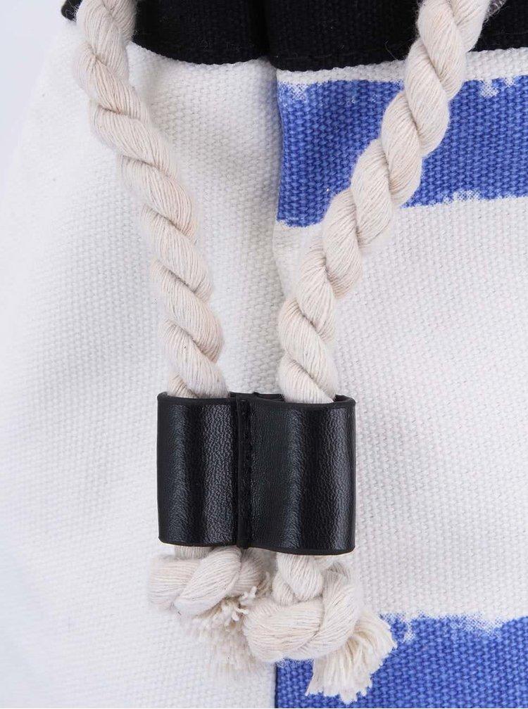 Modro-bílá pruhovaná velká taška Little Marcel Navibag