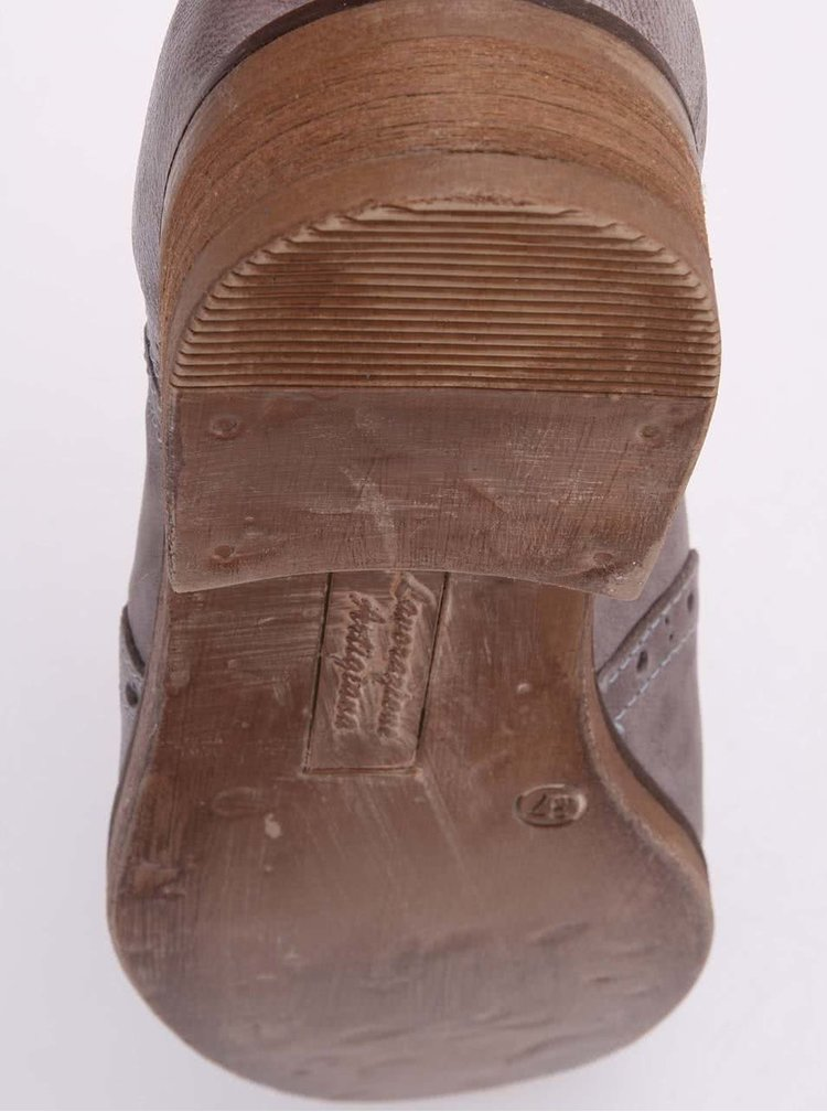 Šedé dámské kožené polobotky U.S. Polo Assn. Lauryn