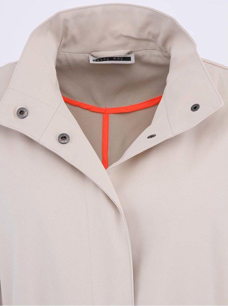Béžový dlouhý kabát Noisy May Infusion