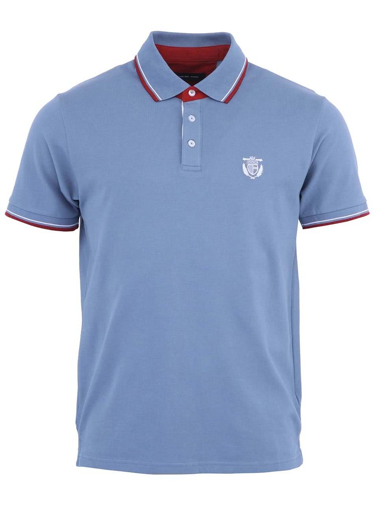 Tricou polo albastru Selected Season